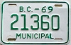 1969 British Columbia Municipal # 21360
