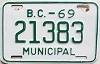 1969 British Columbia Municipal # 21383