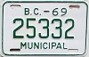 1969 British Columbia Municipal # 25332