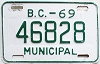 1969 British Columbia Municipal # 46828