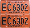 1969 Illinois pair # EC 6302