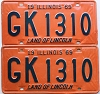 1969 Illinois pair # GK 1310