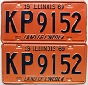 1969 Illinois pair # KP 9152