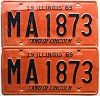 1969 Illinois pair # MA 1873