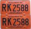 1969 Illinois pair # RK 2588