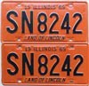 1969 Illinois pair # SN 8242