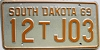 1969 South Dakota Farm Truck # J03, Bon Homme County
