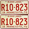 1970 Minnesota Recreational Vehicle pair # R10-823