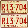 1970 Minnesota Recreational Vehicle pair # R13-704