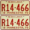 1970 Minnesota Recreational Vehicle pair # R14-466