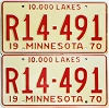 1970 Minnesota Recreational Vehicle pair # R14-491