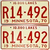 1970 Minnesota Recreational Vehicle pair # R14-492