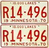 1970 Minnesota Recreational Vehicle pair # R14-496