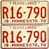 1970 Minnesota Recreational Vehicle pair # R16-790