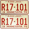 1970 Minnesota Recreational Vehicle pair # R17-101