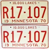 1970 Minnesota Recreational Vehicle pair # R17-107