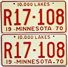 1970 Minnesota Recreational Vehicle pair # R17-108