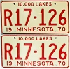 1970 Minnesota Recreational Vehicle pair # R17-126