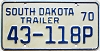 1970 South Dakota Trailer #118P, Lyman County