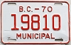 1970 British Columbia Municipal # 19810