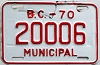 1970 British Columbia Municipal # 20006