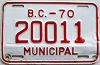 1970 British Columbia Municipal # 20011