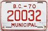 1970 British Columbia Municipal # 20032