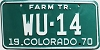 1970 Colorado Farm Tractor low # WU-14, Kit Carson County