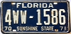 1970 FLORIDA license plate # 4WW-1586, Pinellas County