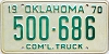 1970 Oklahoma Commercial Truck # 500-686
