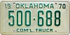 1970 Oklahoma Commercial Truck # 500-688