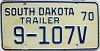 1970 South Dakota Trailer # 9-107V, Lawrence County