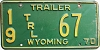 1970 Wyoming Trailer # 67, Uinta County