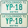 1971 Colorado Metro pair low # YP-18, Kiowa County