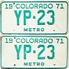 1971 Colorado Metro pair low # YP-23, Kiowa County