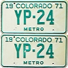 1971 Colorado Metro pair low # YP-24, Kiowa County