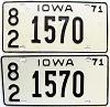 1971 Iowa pair #1570, Scott County
