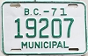 1971 British Columbia Municipal # 19207