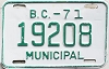 1971 British Columbia Municipal # 19208