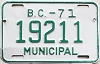 1971 British Columbia Municipal # 19211