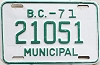 1971 British Columbia Municipal # 21051