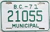 1971 British Columbia Municipal # 21055