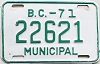 1971 British Columbia Municipal # 22621
