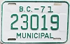 1971 British Columbia Municipal # 23019