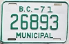 1971 British Columbia Municipal # 26893