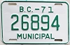 1971 British Columbia Municipal # 26894