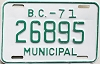 1971 British Columbia Municipal # 26895