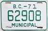 1971 British Columbia Municipal # 62908