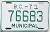 1971 British Columbia Municipal # 76683