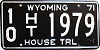 1971 Wyoming House Trailer # 1979, Fremont County